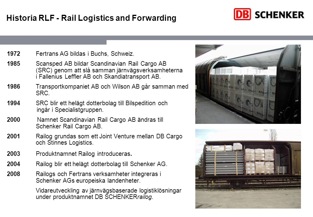 Historia RLF - Rail Logistics and Forwarding