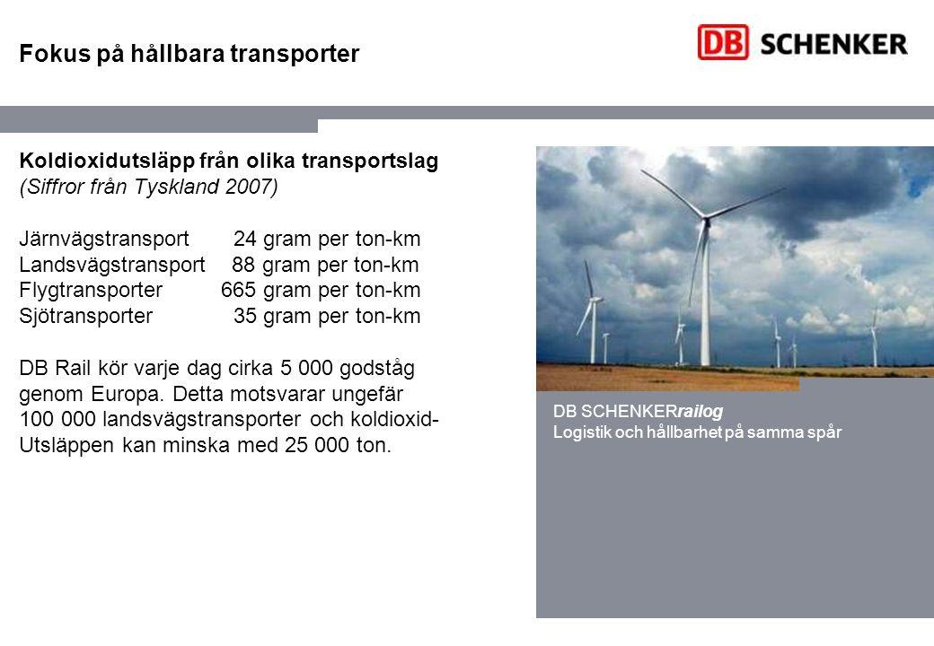 Fokus på hållbara transporter