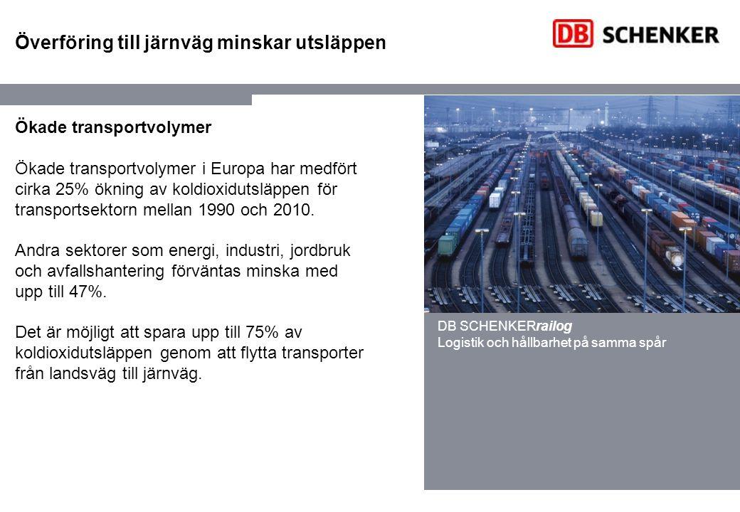 Överföring till järnväg minskar utsläppen