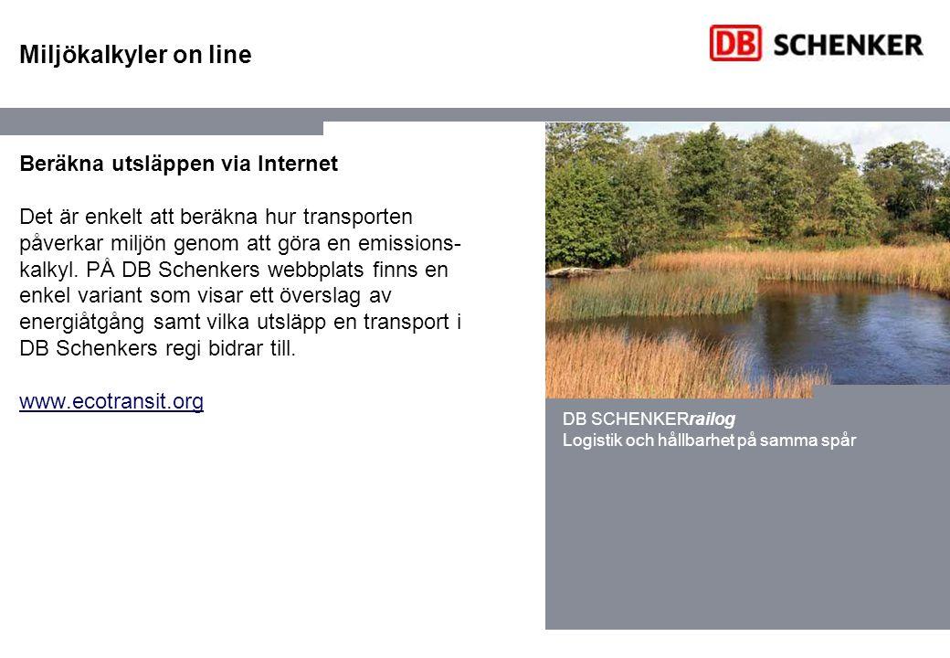 Miljökalkyler on line