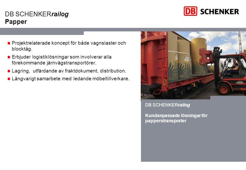 DB SCHENKERrailog Papper