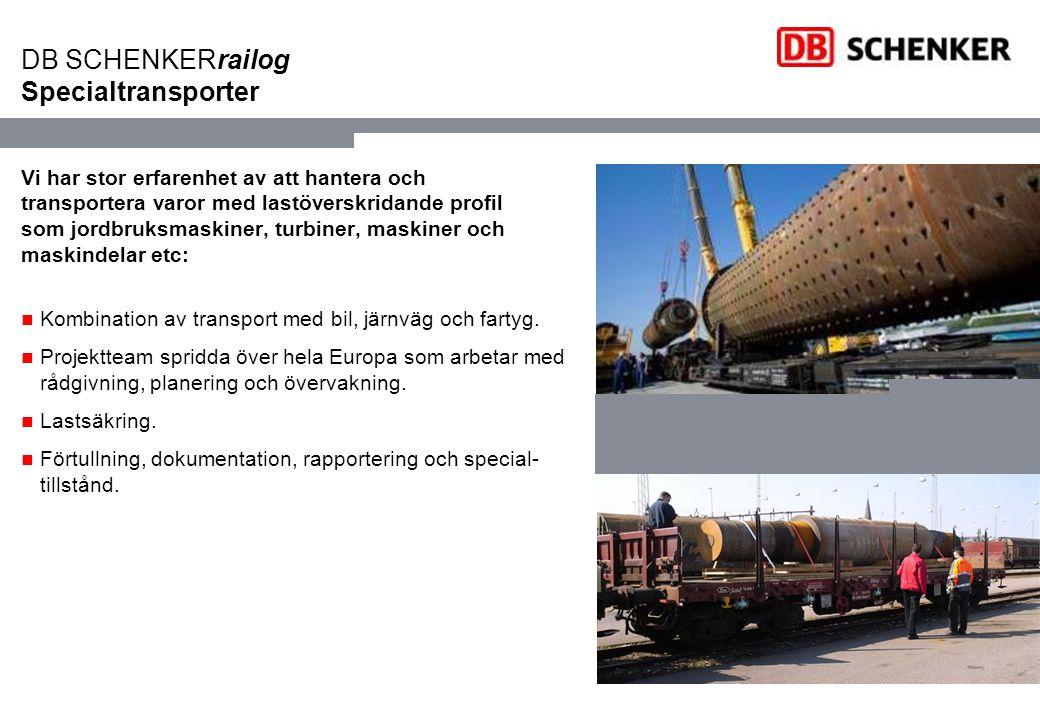 DB SCHENKERrailog Specialtransporter