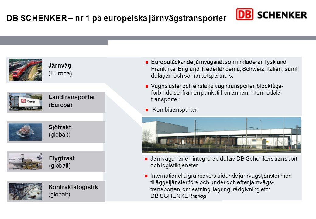 DB SCHENKER – nr 1 på europeiska järnvägstransporter