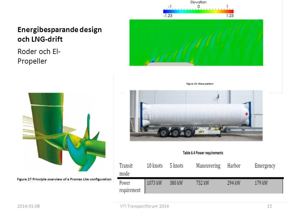 Energibesparande design och LNG-drift