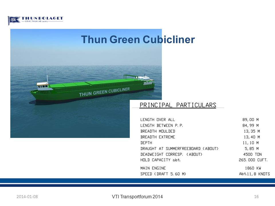Thun Green Cubicliner 2014-01-08 VTI Transportforum 2014