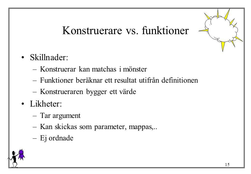 Konstruerare vs. funktioner