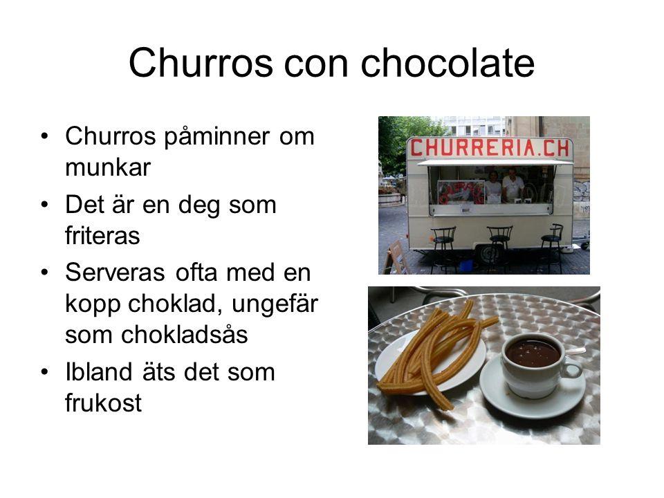 Churros con chocolate Churros påminner om munkar