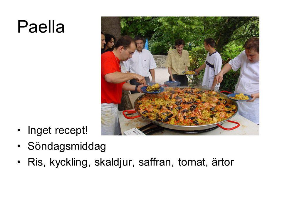 Paella Inget recept! Söndagsmiddag