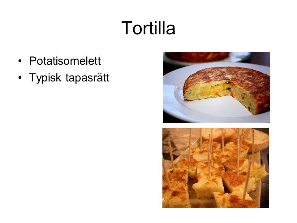 Tortilla Potatisomelett Typisk tapasrätt