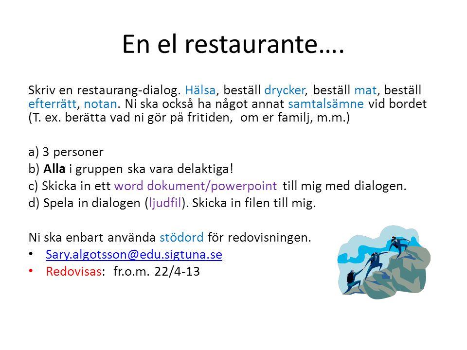 En el restaurante….