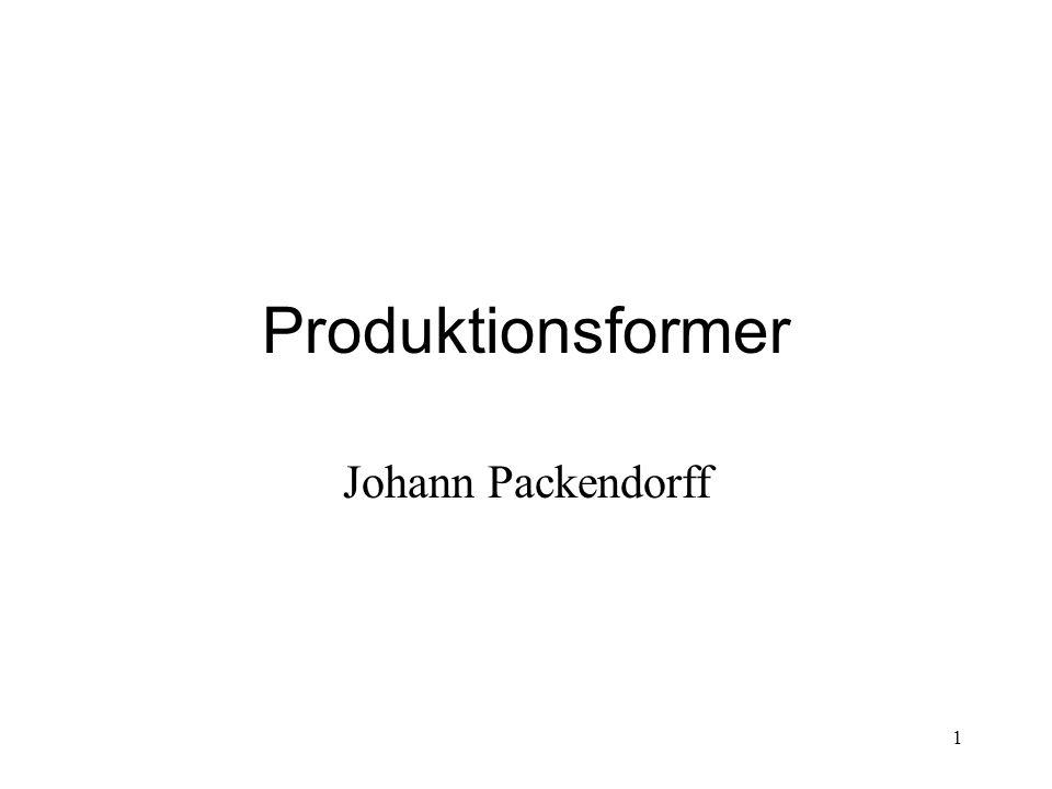 Produktionsformer Johann Packendorff