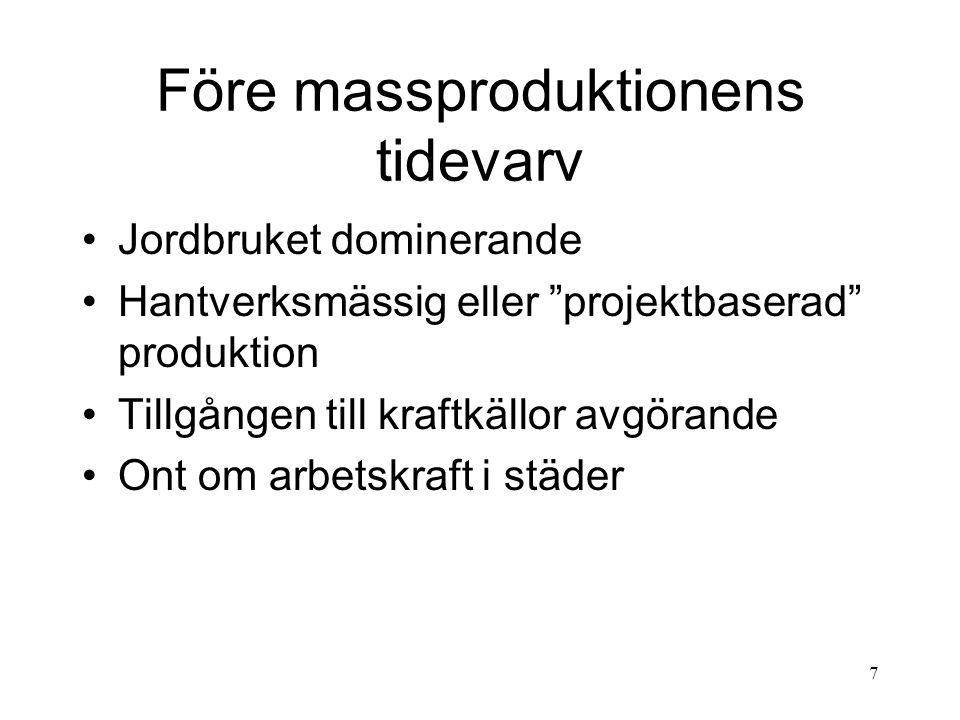 Före massproduktionens tidevarv