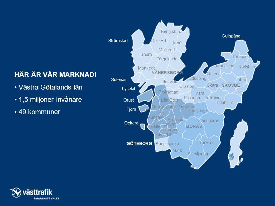 HÄR ÄR VÅR MARKNAD! • Västra Götalands län • 1,5 miljoner invånare