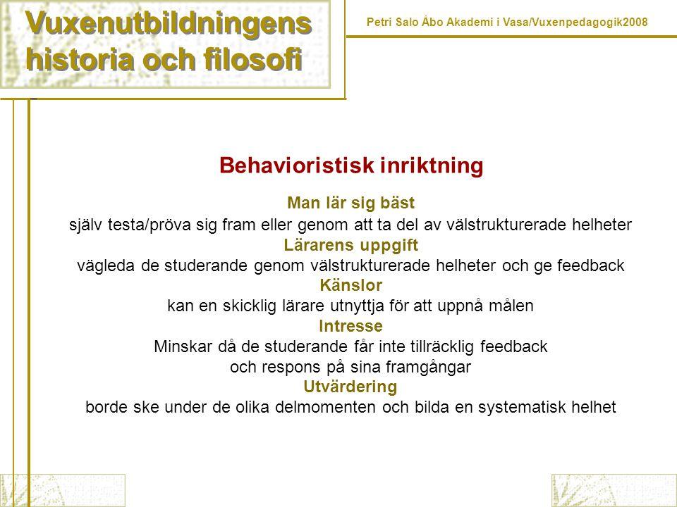 Behavioristisk inriktning