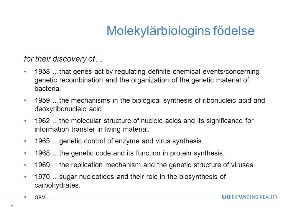 Molekylärbiologins födelse