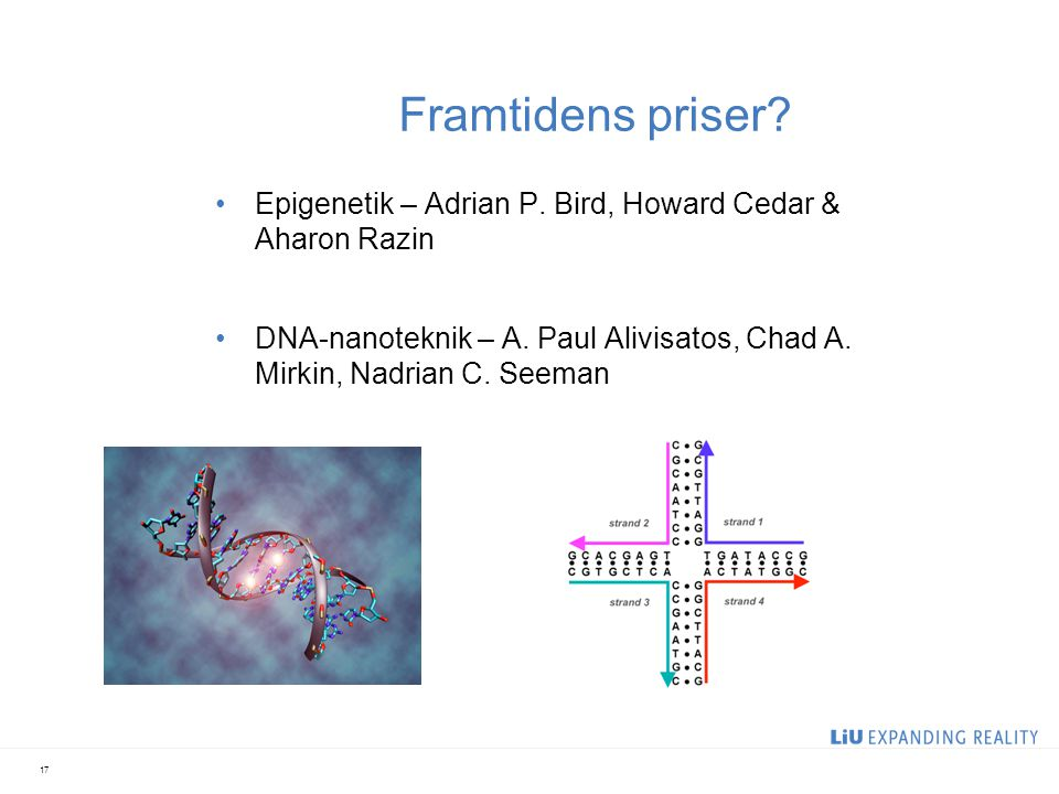 2017-04-05 Framtidens priser Epigenetik – Adrian P. Bird, Howard Cedar & Aharon Razin.