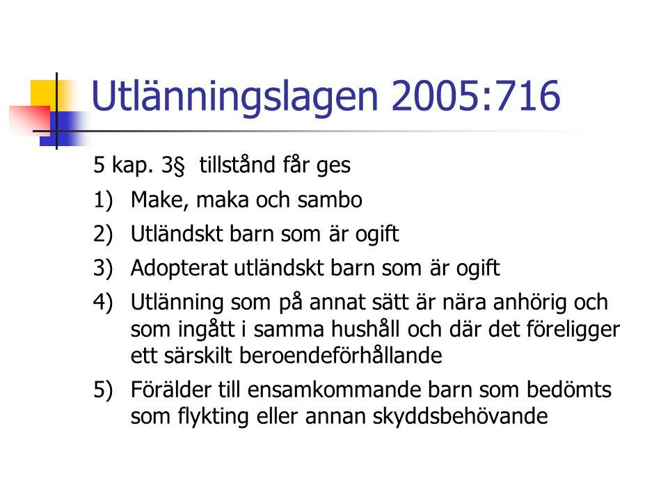 Utlänningslagen 2005:716 5 kap. 3§ tillstånd får ges