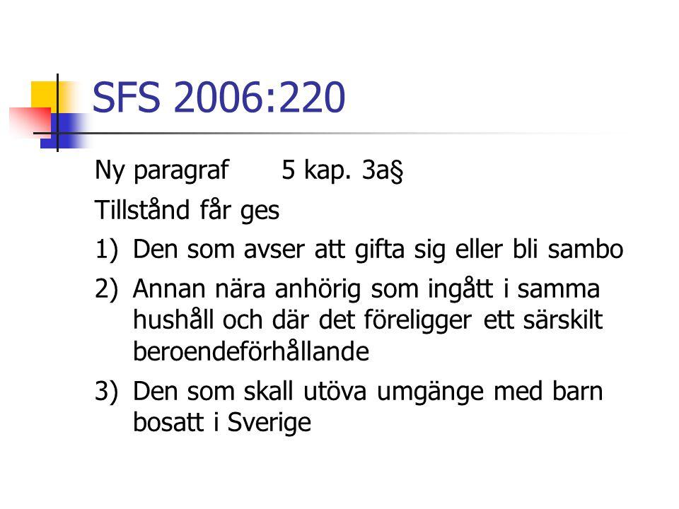 SFS 2006:220 Ny paragraf 5 kap. 3a§ Tillstånd får ges