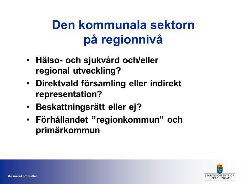 Den kommunala sektorn på regionnivå