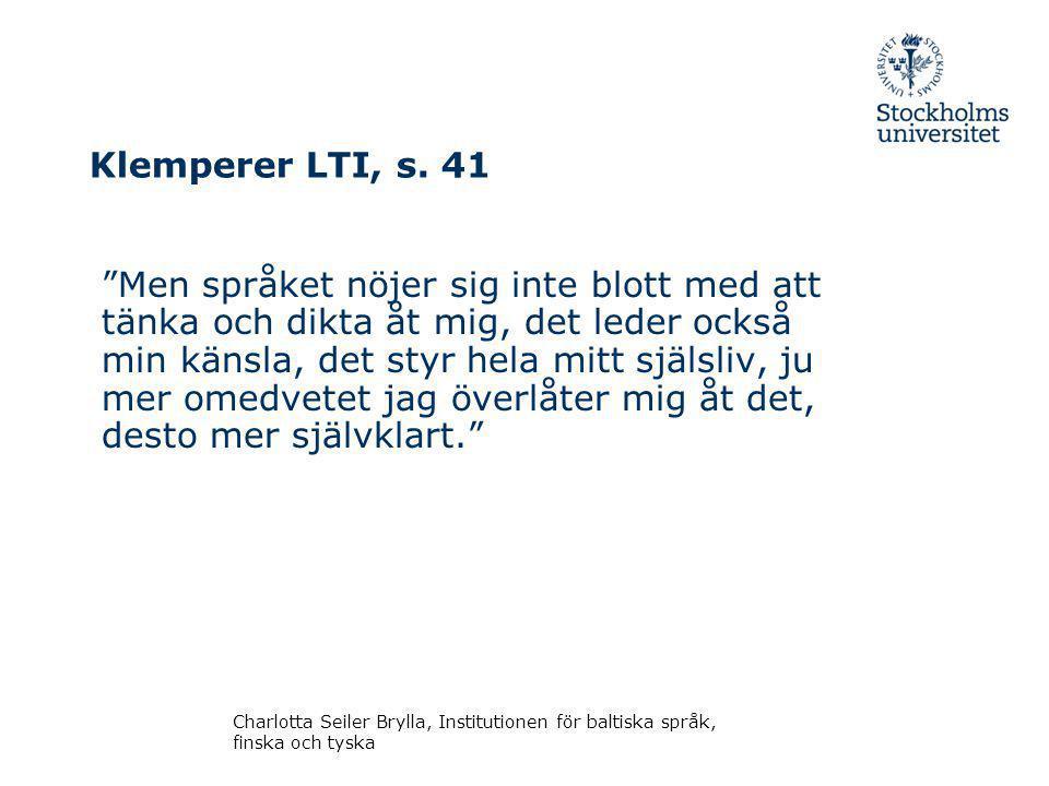 Klemperer LTI, s. 41