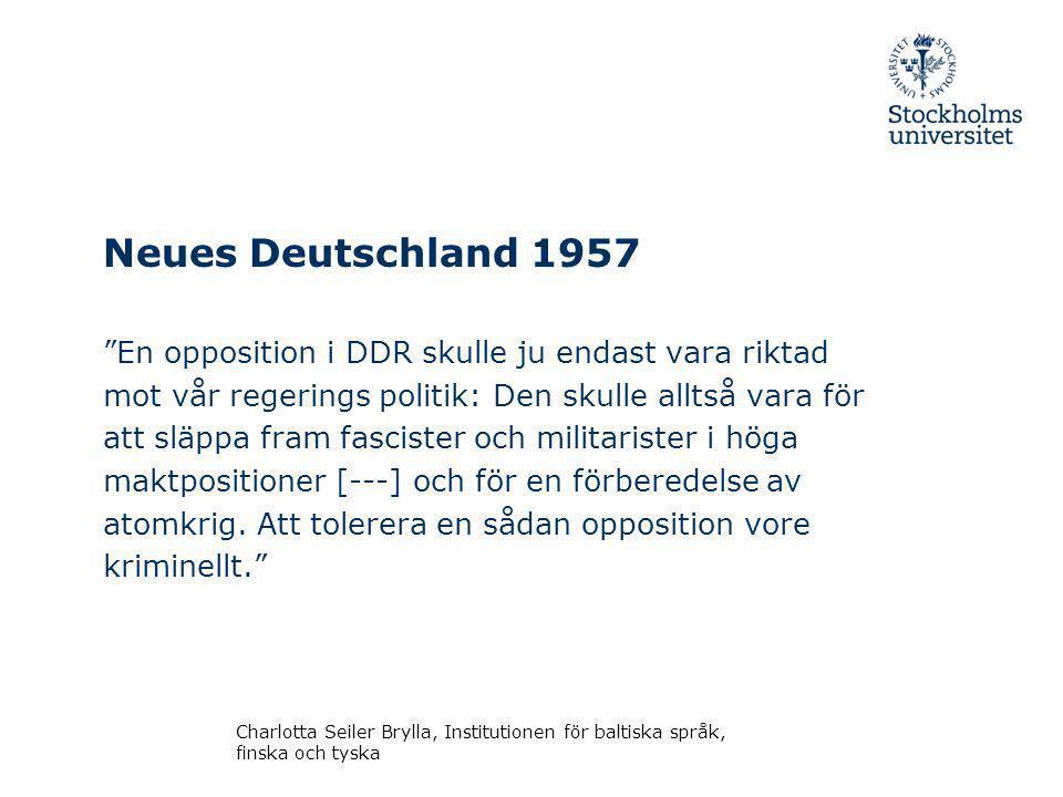 Neues Deutschland 1957