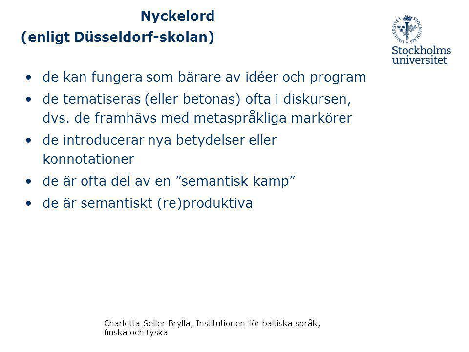 Nyckelord (enligt Düsseldorf-skolan)