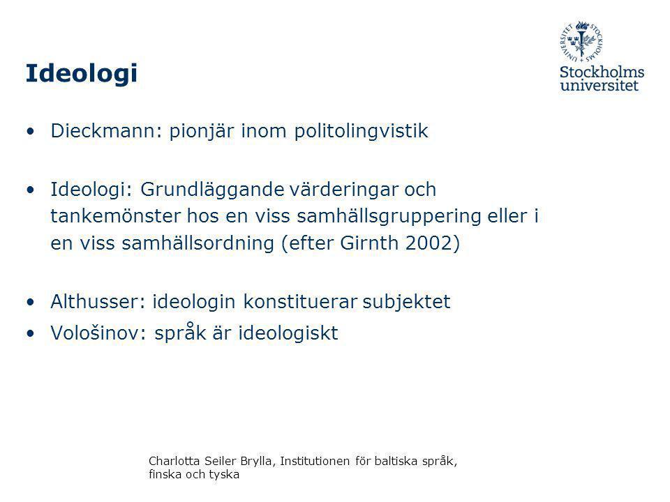 Ideologi Dieckmann: pionjär inom politolingvistik
