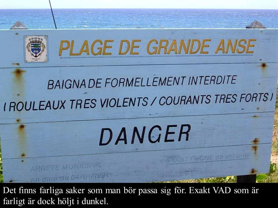 Det finns farliga saker som man bör passa sig för