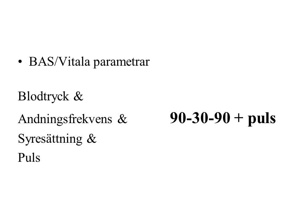 BAS/Vitala parametrar
