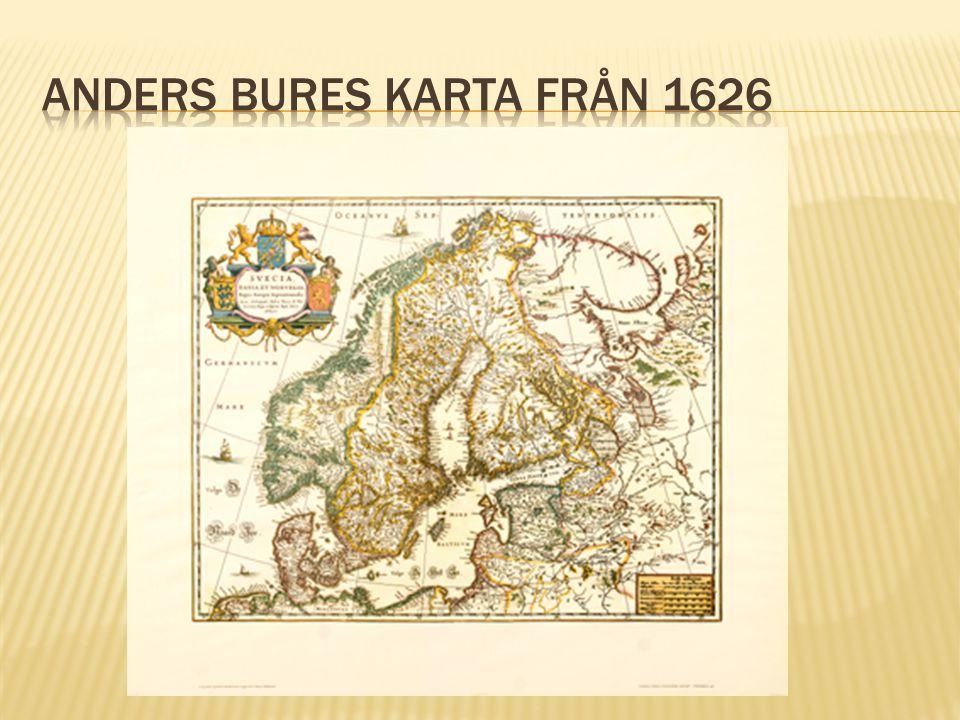 Anders Bures karta från 1626