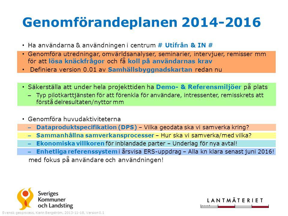 Genomförandeplanen 2014-2016 Ha användarna & användningen i centrum # Utifrån & IN #