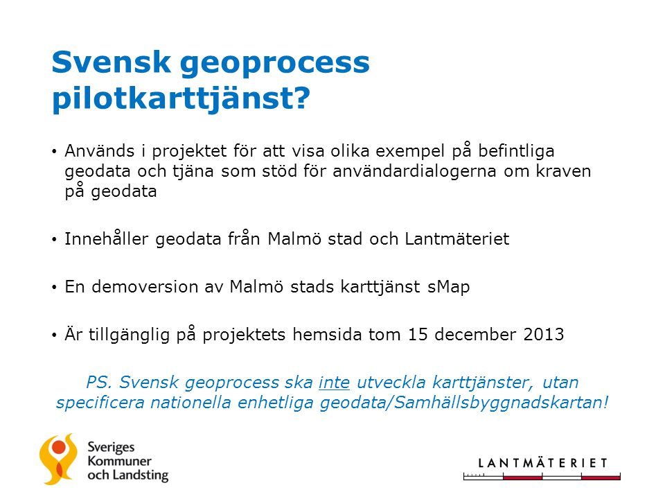 Svensk geoprocess pilotkarttjänst