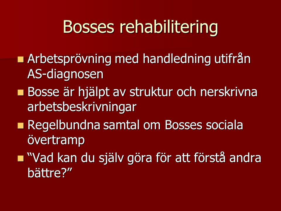 Bosses rehabilitering