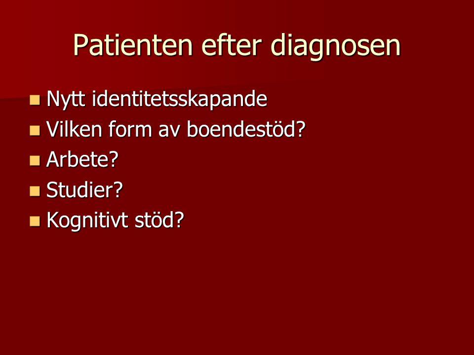 Patienten efter diagnosen