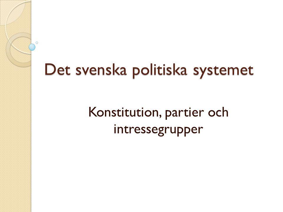 Det svenska politiska systemet