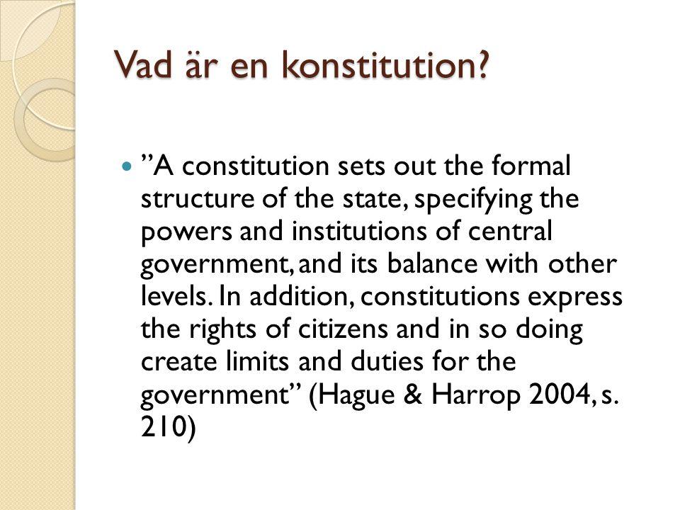 Vad är en konstitution