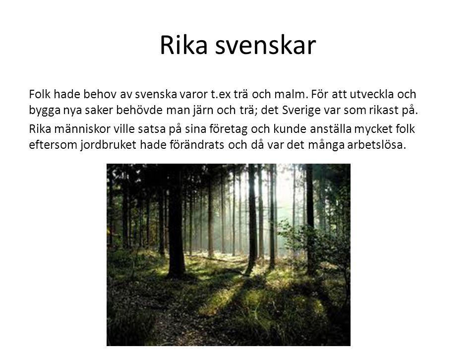 Rika svenskar