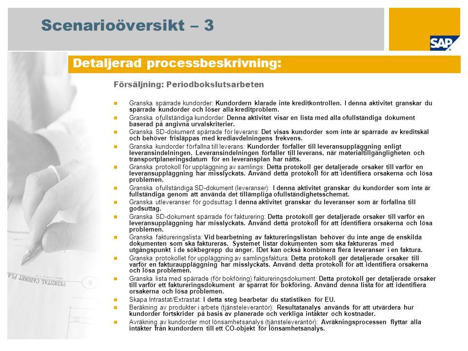 Scenarioöversikt – 3 Detaljerad processbeskrivning: