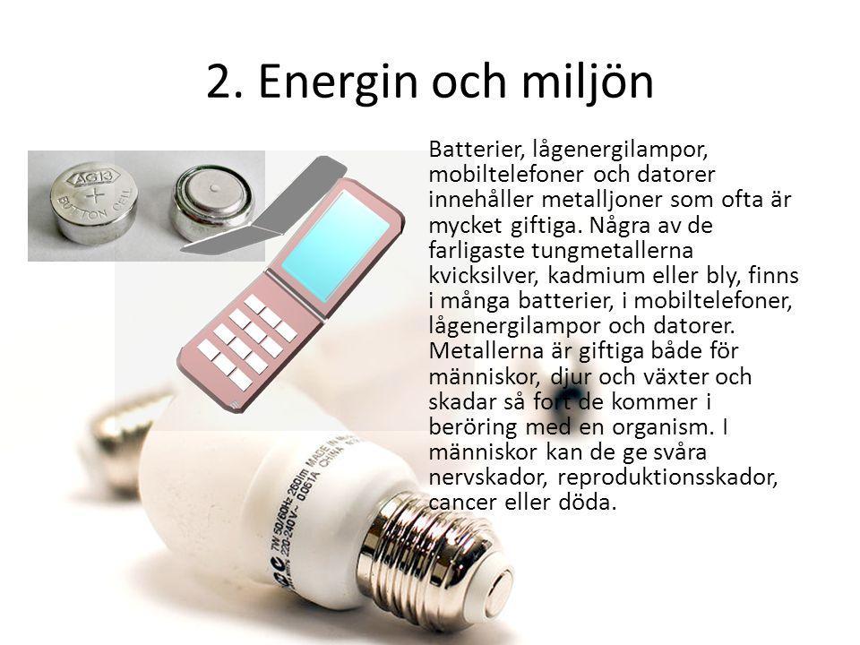 2. Energin och miljön