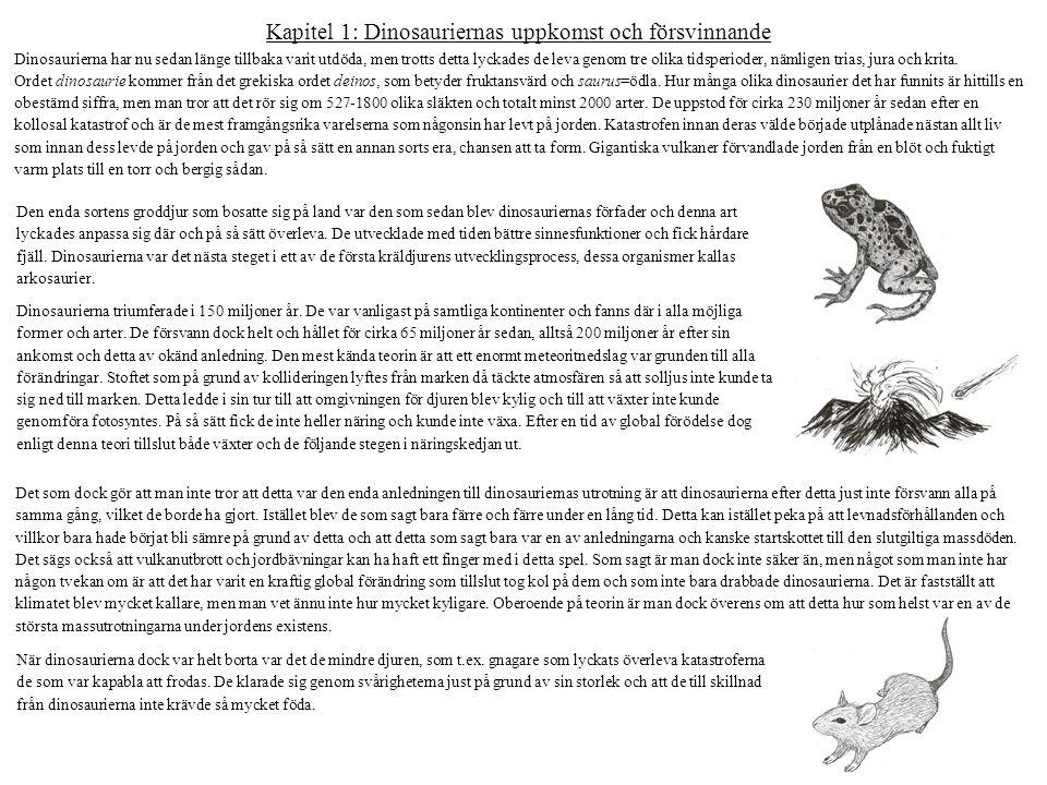Kapitel 1: Dinosauriernas uppkomst och försvinnande