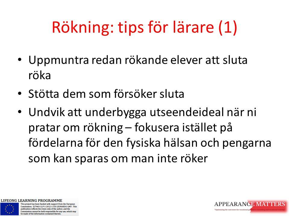 Rökning: tips för lärare (1)