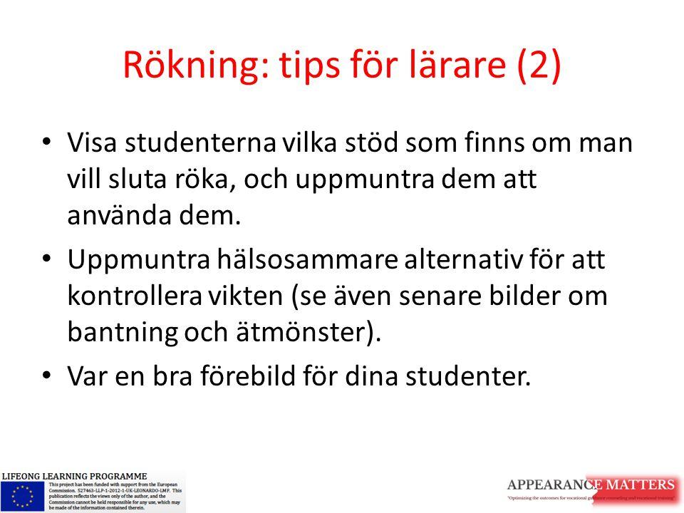 Rökning: tips för lärare (2)