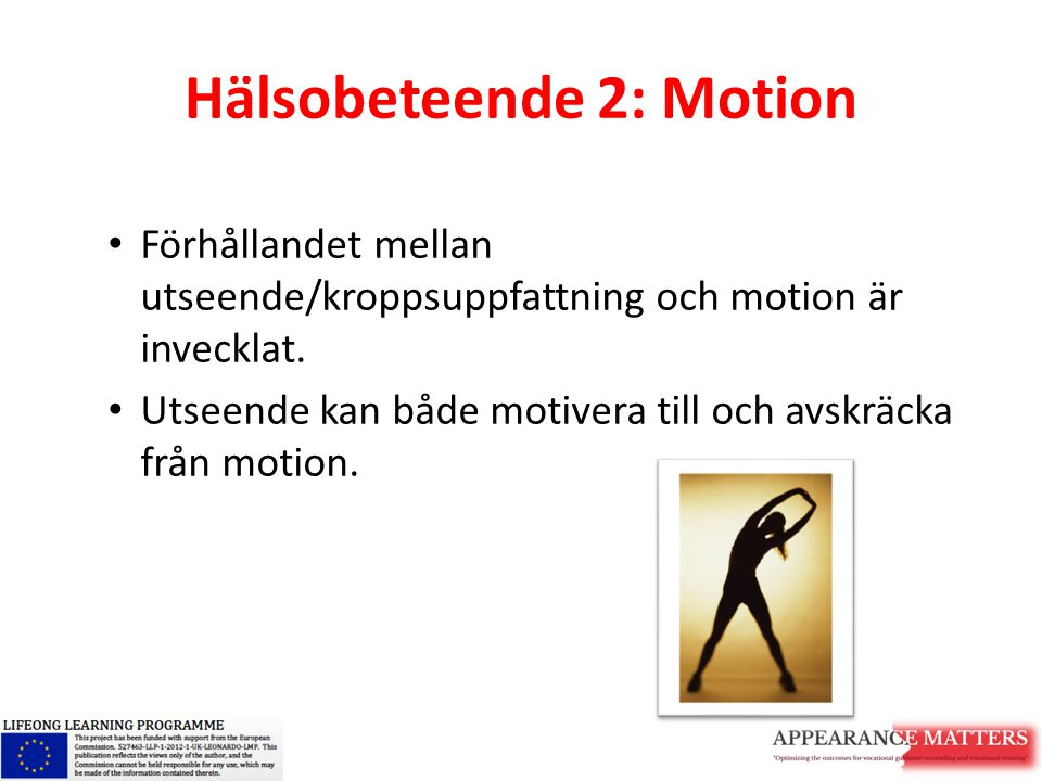Hälsobeteende 2: Motion