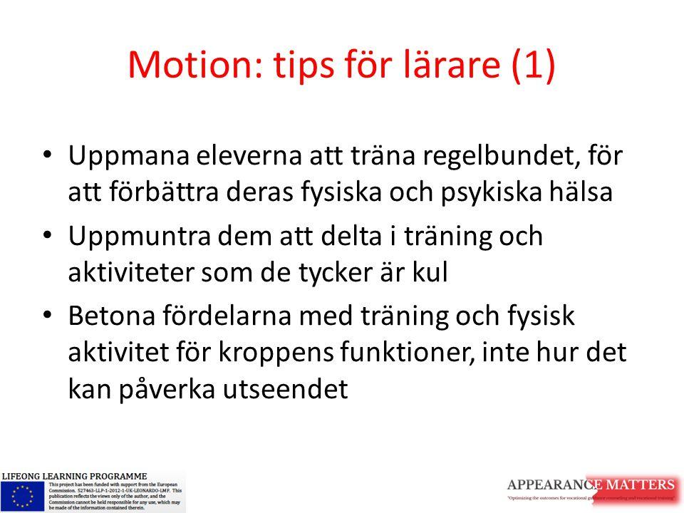 Motion: tips för lärare (1)