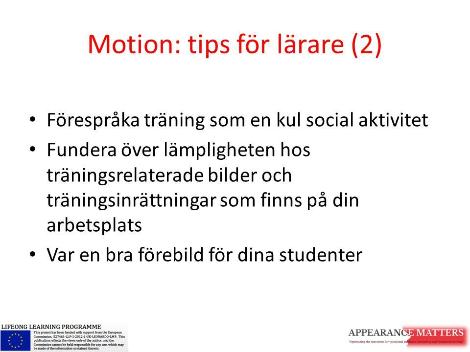 Motion: tips för lärare (2)