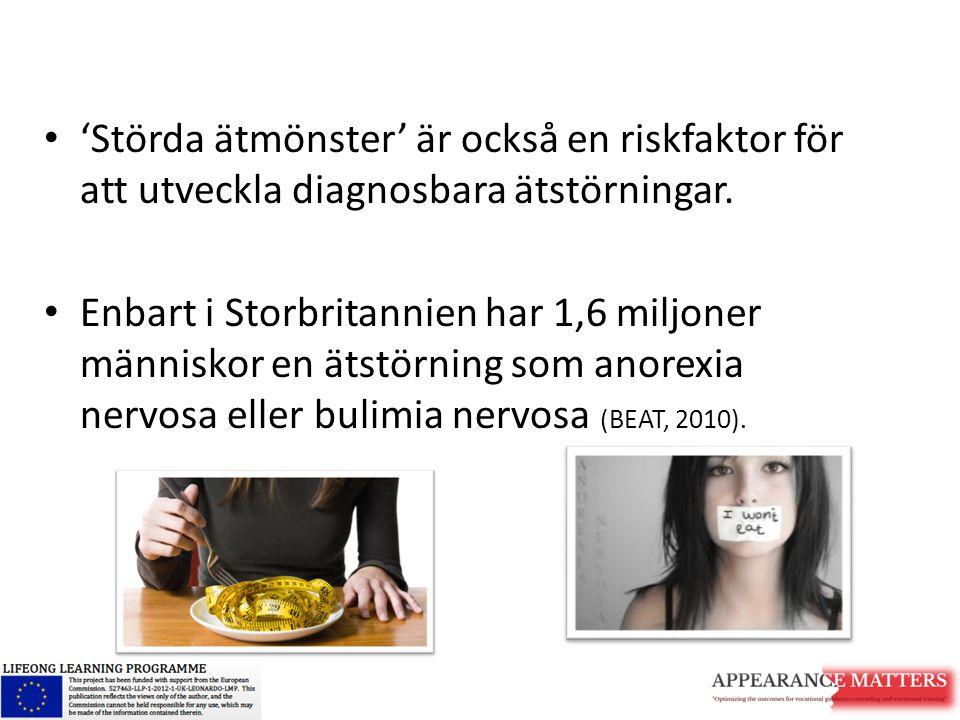 'Störda ätmönster' är också en riskfaktor för att utveckla diagnosbara ätstörningar.