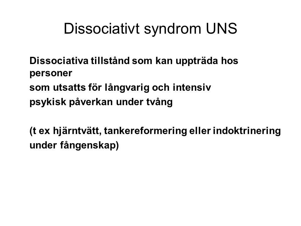 Dissociativt syndrom UNS