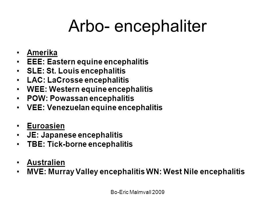 Arbo- encephaliter Amerika EEE: Eastern equine encephalitis