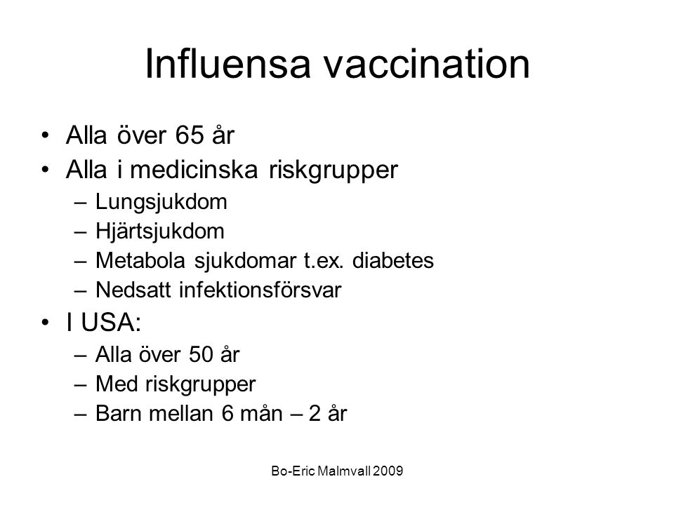 Influensa vaccination