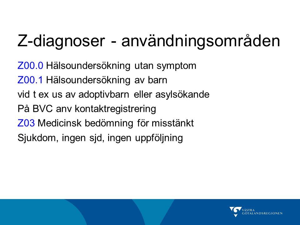 Z-diagnoser - användningsområden